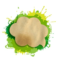 Green Grunge Blob With Speech Bubble vector image vector image