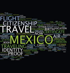 Legal air travel to mexico fly now or suffer vector