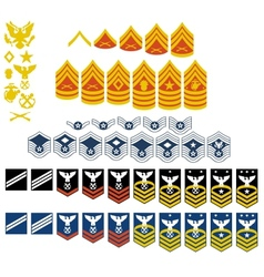 Patches of the US Army vector image