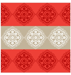 Persian Seamless Red Floral Pattern Design vector image vector image
