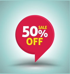 sale red tag isolated vector image vector image