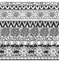 Seamless ornament from flowers and floral elements vector image vector image