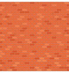 Seamless red brick wall vector image vector image