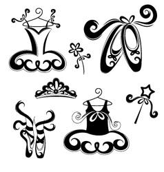 Ballet accessories vector image