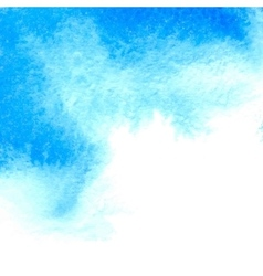 Blue watercolor textured background vector