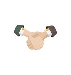 Business agreement handshake icon cartoon style vector image vector image