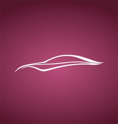 Speedy auto logo over pink vector image vector image