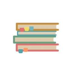 Stack of books icon in flat style vector image