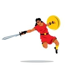Woman Warrior Cartoon vector image vector image