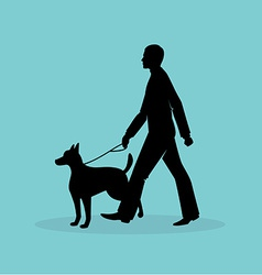 Blind man silhouette image vector image vector image