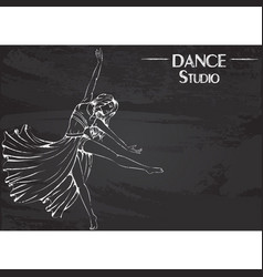 dance line chalk contemporary vector image vector image