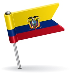 Ecuadorian pin icon flag vector image vector image