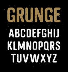 grunge alphabet 001 vector image vector image