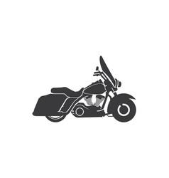 harley davidson american style motorcycle vector image