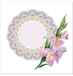 lace doily vector image