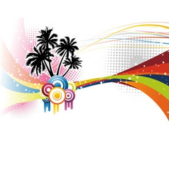 music colorful rainbow vector image vector image