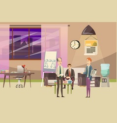 office orthogonal colored composition vector image