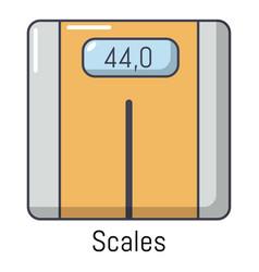 scales icon cartoon style vector image