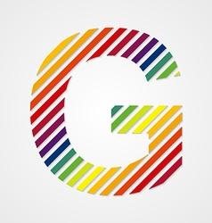 Alphabet Letter G vector image