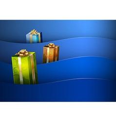 christmas background blue stripe wave vector image