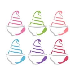 concept of frozen yogurt vector image