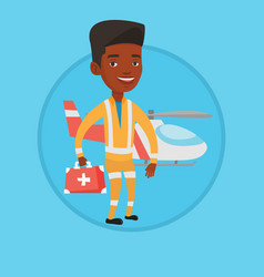 doctor of air ambulance vector image