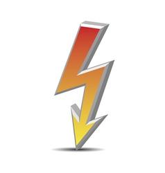 Flash danger symbol vector image
