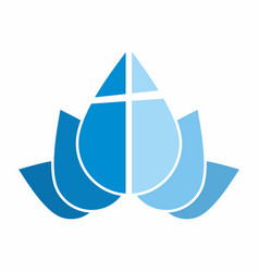 Logo of the church cross vector