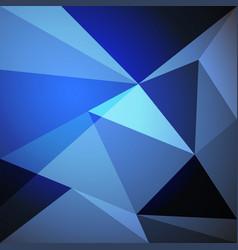 low poly design element on blue gradient vector image