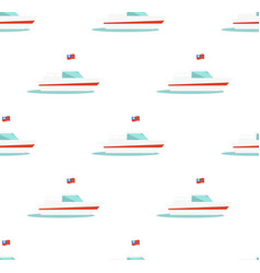 seamless pattern with yacht icon isolated on white vector image