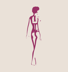 sexy women silhouette vector image vector image