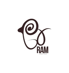 Stylized ram sheep lamb outline graphic logo vector image vector image