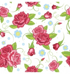 vector rose seamless background vector image