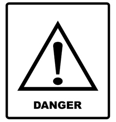 Warning sign icon isolated on white background vector image vector image