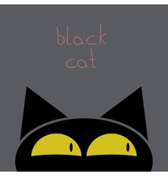 A black cat vector