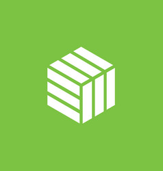 a modern and sophisticated cube logo design with vector image