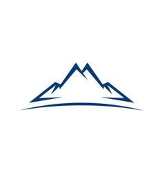 abstract mountain icon logo vector image