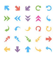 arrows flat set vector image