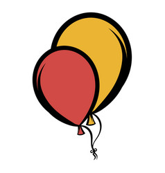 Balloons icon cartoon vector