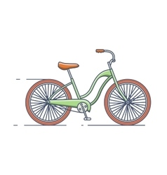 Bicycle isolated line style vector image