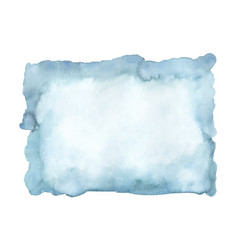 Blue azure turquoise abstract watercolor vector