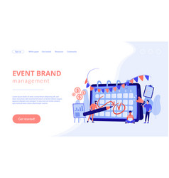 brand event concept landing page vector image