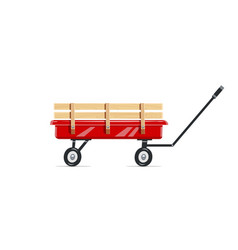 Cart child toy vector