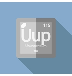 Chemical element Ununpentium Flat vector image