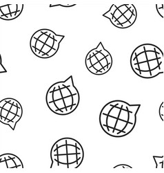 choose or change language icon seamless pattern vector image
