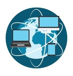 Devices conect to internet vector