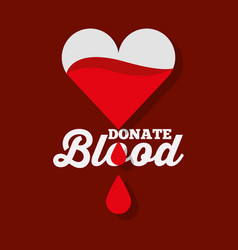 dripping heart donate blood vector image