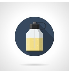 Eau de parfum flat color round icon vector