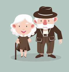 elderly couple people vector image