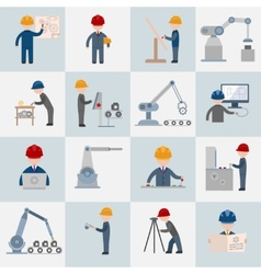 Engineering icons flat vector image
